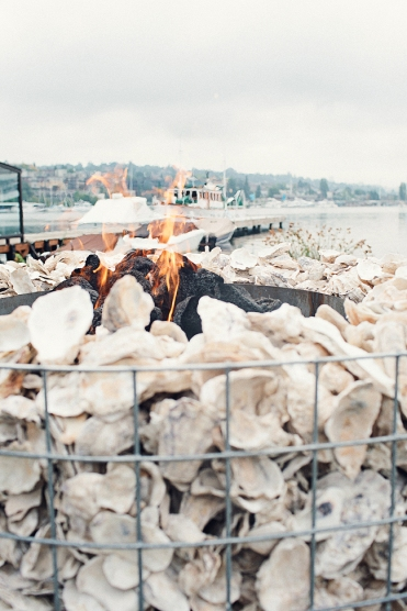 Oyster fire pit