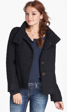 Funnel Collar Coat - $68