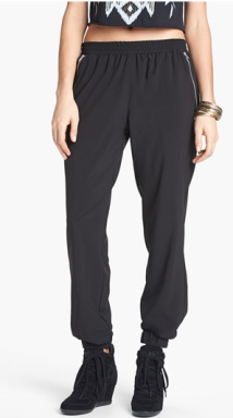 Relaxed Woven Track Pants - $38