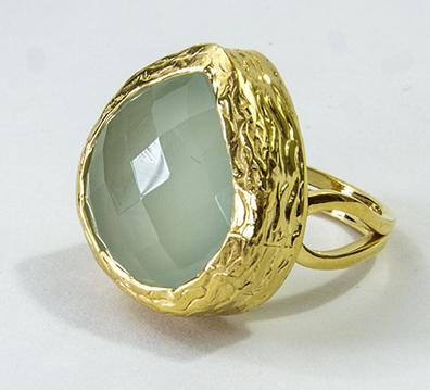 Prehnite Adjustable Ring