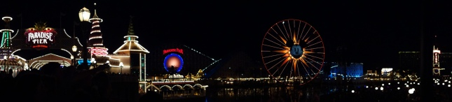 Panoramic California Adventure at Night