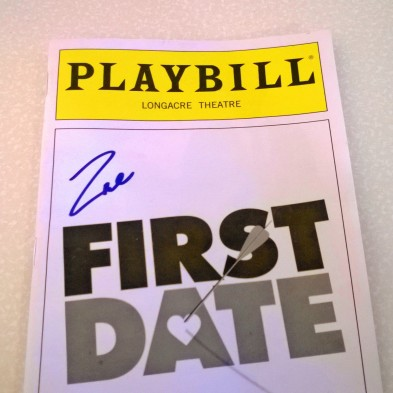 First Date (signed by Zac)
