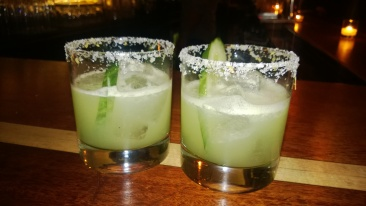 Spicy Cucumber Margaritas