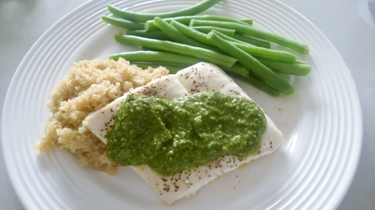 Halibut with Pesto